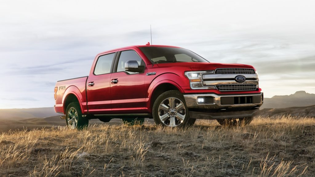 Red 2020 Ford F-150 in the wilderness
