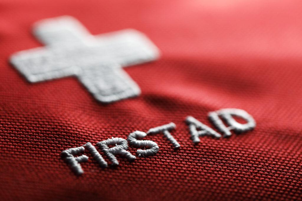 First aid kit concept closeup