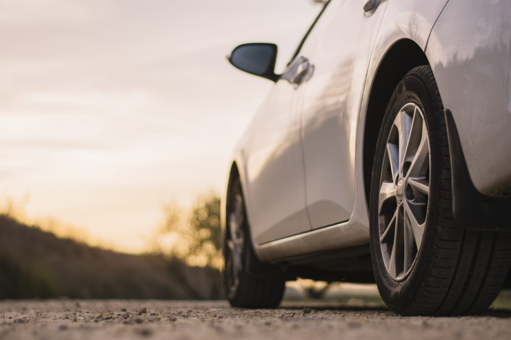 Car close up of tires