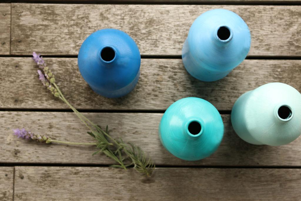 Painted DIY vases